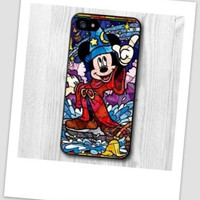 NEW Mickey Mouse Character Stained Glass unique fitted cell phone case for iPhone 6 Plus Disney