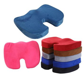 2017 Hot New Coccyx Orthopedic Memory Foam Seat Cushion for Chair Car Office Home Bottom Seats Massage Cushion almofada cojines