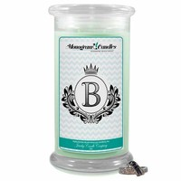 Letter B Monogram Candles
