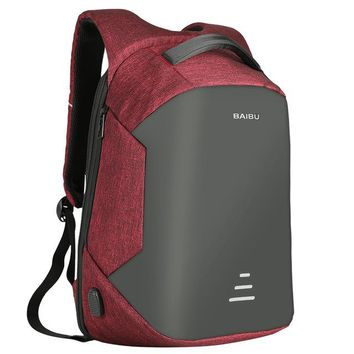 Travel waterproof anti theft backpack