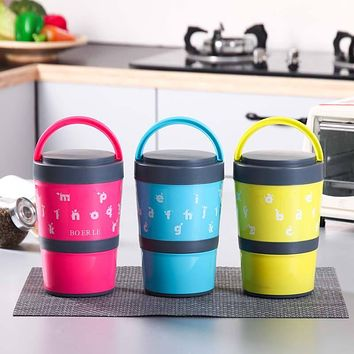 2 Layers Thermal Bento Dinnerware Sets Lunch Stainless Steel Food box Insulation Storage food Container