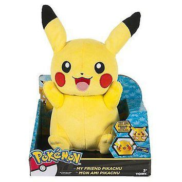 "Tomy Pokemon My Friend Pikachu Light-up Talking 10"" Plush USA Seller Authentic"