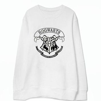 Harry Potter Letter Print Women Hoodies Sweatshirts 2017 Casual Loose Long Sleeve Hoodies Women Cotton Harajuku Pullovers 40*B