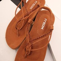 Braided Flat Sandals FCBH060507 from topsales
