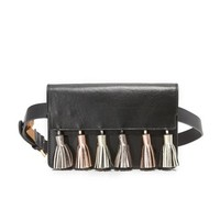 Metallic Tassel Belt Bag