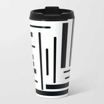 Stripes Metal Travel Mug by Moonlit Emporium