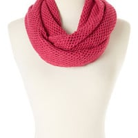 Steve Madden Hot Pink Fishnet Infinity Scarf | zulily