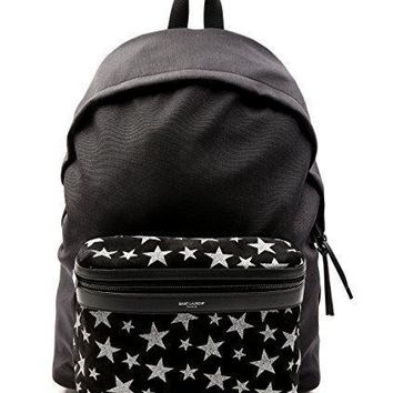 Wiberlux Saint Laurent Men's Glittered Star Detail Backpack