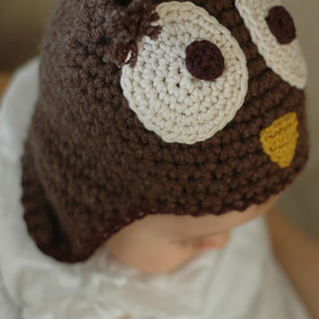 Owl Hat Newborn and 03M by beliz82 on Etsy