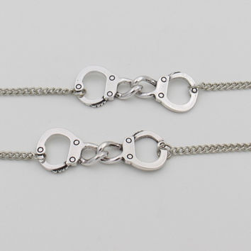 Handcuff BFF Partner in Crime Bracelet(2pc)- next day shipping offer