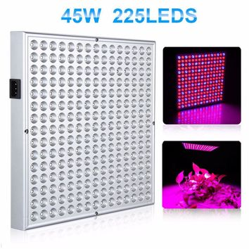 2016 NEW Big Promition Blue+Red 45W 225 LEDs Led Grow Light AC85-265V Led Growing Lamp Plant Light free shipping