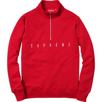 Supreme: United Half Zip Pullover - Red