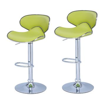 Bareneed Lime Green Modern Bar Stools (Set of two)