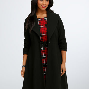 Retro Chic Shawl Collar Coat
