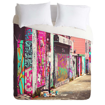 Shannon Clark Paint It Pink Duvet Cover