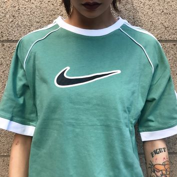 Fresh Color NIKE T-Shirt Top Tee B-MG-FSSH Green