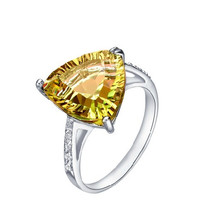 2ct Citrine silver ring