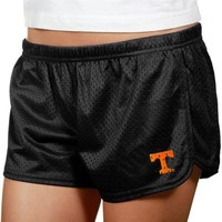 Tennessee Volunteers Ladies Black Teeny Tiny Mesh Shorts