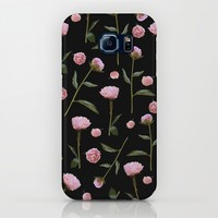 Peonies on Black iPhone & iPod Case by Lisa Argyropoulos | Society6