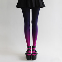 BZR Ombré tights in Nebulous