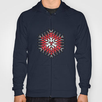 Abstract Geometric Pattern Hoody by Cinema4design | Society6