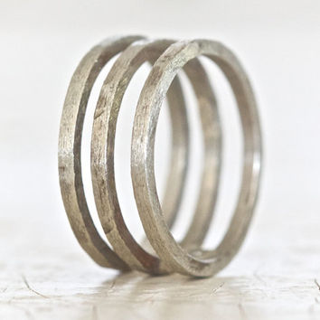 Men's Sterling Silver Cage Ring Rustic Unique