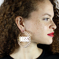 Femme Freak The BOSS CHAIN HOOP EARRINGSGOLD