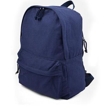 University College Backpack Simple and clean color shoulder girl Korean version of the small fresh wild  wind canvas  high school student camAT_63_4