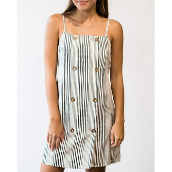 Suit Up Stripe Dress