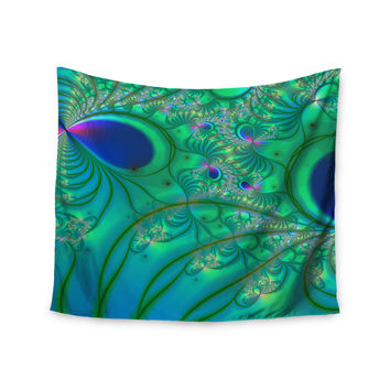 "Alison Coxon ""Fractal Turquoise"" Wall Tapestry"