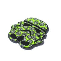Limited Edition Green Flower of Life 'Storm Tripper' Hat Pin