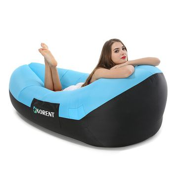 Norent 2018 New shape Portable waterproof Fast Inflatable mattress Camping Outdoor Lounger Air bed Beach Swimming pool Lay bag