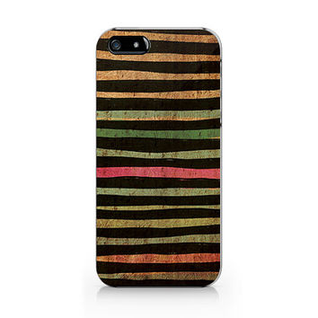 A-276- Stripe Wood print iPhone 4/4S case, Autumn iPhone 5/5S case