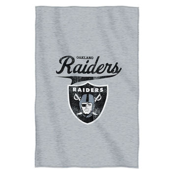 "Oakland Raiders 54""x84""Sweatshirt Blanket - Script Design"