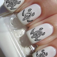 Tribal Turtle Nail Decals