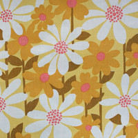 darling daisy, a retro vintage sheet fat quarter