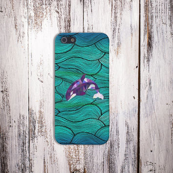 Geometric Killer Whale Case for iPhone 5 iPhone 5S iPhone 4 iPhone 4S and Samsung Galaxy S5 S4 & S3