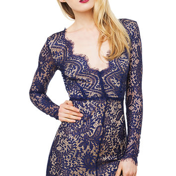 Changing Lace Dress - Navy