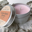 Japanese Cherry Blossom Soy Candle Tin - Hand Poured Soy Candle -- 6 ounce Tin