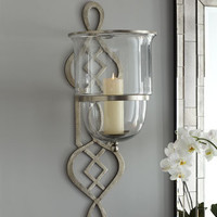 Global Views - Fretwork Hurricane Sconce - Horchow