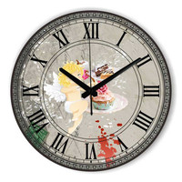 Fashion Dining Room Wall Decoration Clocks With Waterproof Clock Face Roman Number Home Decor Wall Clocks Kitchen Wall Clock