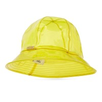 Yellow PVC Bucket Hat by Fendi