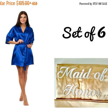 SALE Bridesmaid robes set of 6, Wedding robes, Robes for bride and bridesmaid, Cheap robes, Robes under 20, Personalized robes, Monogrammed