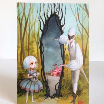 The Window in the Woods - signed 4 x 5.75 Mini Art Print by Mab Graves - unframed