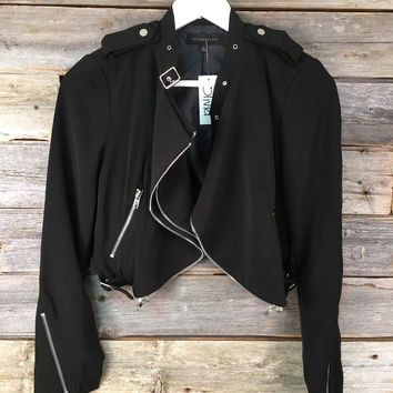 ZIP ZIP SHORT JACKET - BLACK