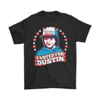 QIYIF Make Hawkins Great Again I Voted For Dustin Stranger Things Shirts