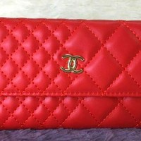 chanel 2017 new fashion leather grid Change Cellphone bag [99270918159]
