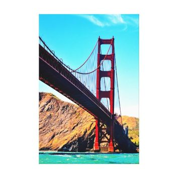 40 X 60 GOLDEN GATE BRIDGE WRAPPED CANVAS PRINT