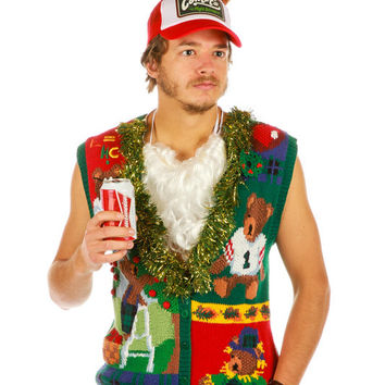 Build-a-Bear Employee Get-Together Ugly Christmas Sweater Vest