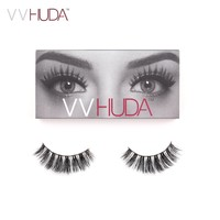 VVHUDA 3D Mink Lash False Eyelashes Hand-made Long Thick Voluminous Fake Lashes Collection Natural Fiber Extension Medium Volume